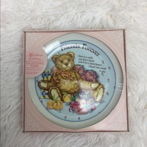 Heirloom Editions Teddy Bear Friends Forever Plate